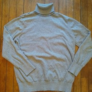 L. L. Bean Striped Turtleneck Sweater Womens Large